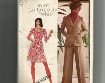 Simplicity Misses' Unlined Jacket, Short Skirt and Wide Leg Pants Pattern 5813