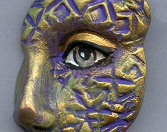 Polymer Clay  OOAK  textured Cirque   Face Shard CIRSH 2