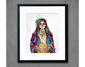 Senorita Day of the Dead Art Print
