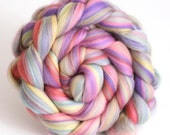 Pastel Roving Merino Wool Combed Top Pastels - Babyface 100g Spinning yarn or Felting Fibre