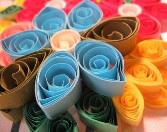 Quilled Flower Bouquet Wall Art