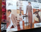 Vogue Wardrobe 2030 Sewing Pattern Dress Jacket Vest Pants and Skirt Sewing Pattern size 14 16 18 UNCUT