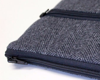 Men's Choose Size Kindle Oasis Voyage Paperwhite Sleeve, Kobo Aura Sleeve - Gray Herringbone Wool