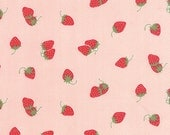 "26"" piece/remnant - Hello Darling - Strawberries in Coral Pink: sku 55114-17 cotton quilting fabric by Bonnie and Camille for Moda Fabrics"