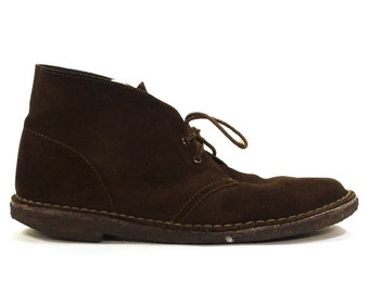 Clarks Leather Desert Boots in Chocolate Brown / Men's Size 10 / Women's Size 11.5