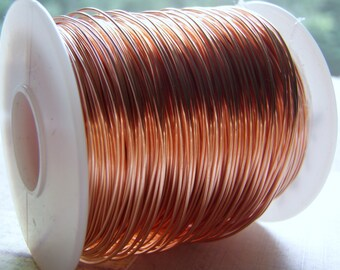 Copper Wire Dead Soft Round Solid Premium 99.9% Pure Bare Wire 14 to 26 Gauge One Pound Spooled