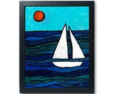 Sailboat Art Print - Naut...
