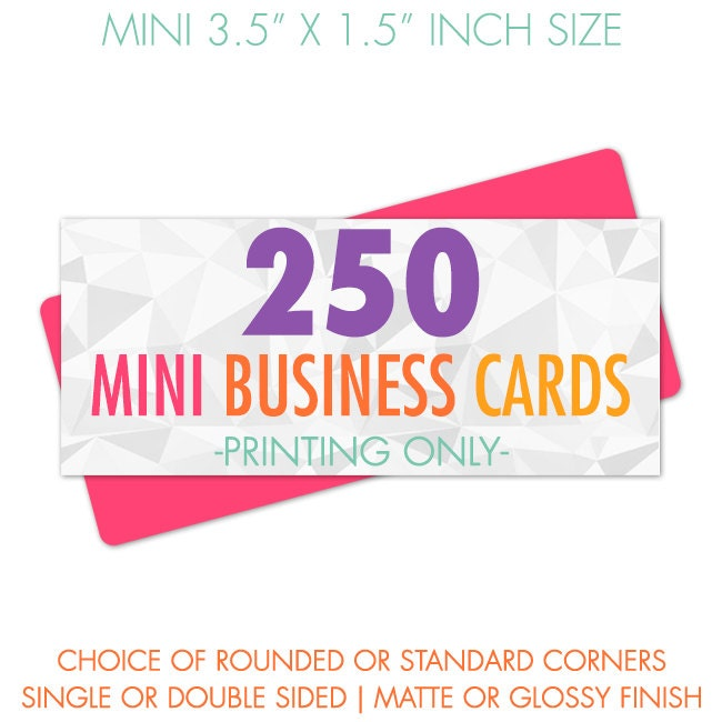 250 mini business cards card printing business cards for Mini business card