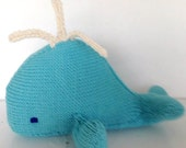 Whale Plush Toy Sea Life Ocean Friend Natural Toy EcoKids Toy Made to Order