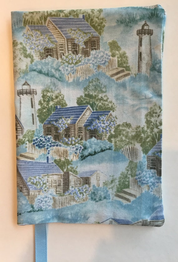 Fabric Paperback Book Covers : Fabric paperback book cover toile houses blue