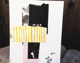Original Painting, modern art, modern spaces, mixed media, acrylic painting, abstract landscape, black and white