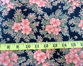 Floral Quilting Fabric, Cotton, Crafts, Salmon Coral Pink, Floral Fabric for Sewing Quilting,100% Cotton Fabric, Crafts, Quilting, Clothing,