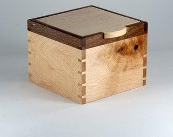 Keepsake Box, Jewelry Box, Valet, English Oak and Maple