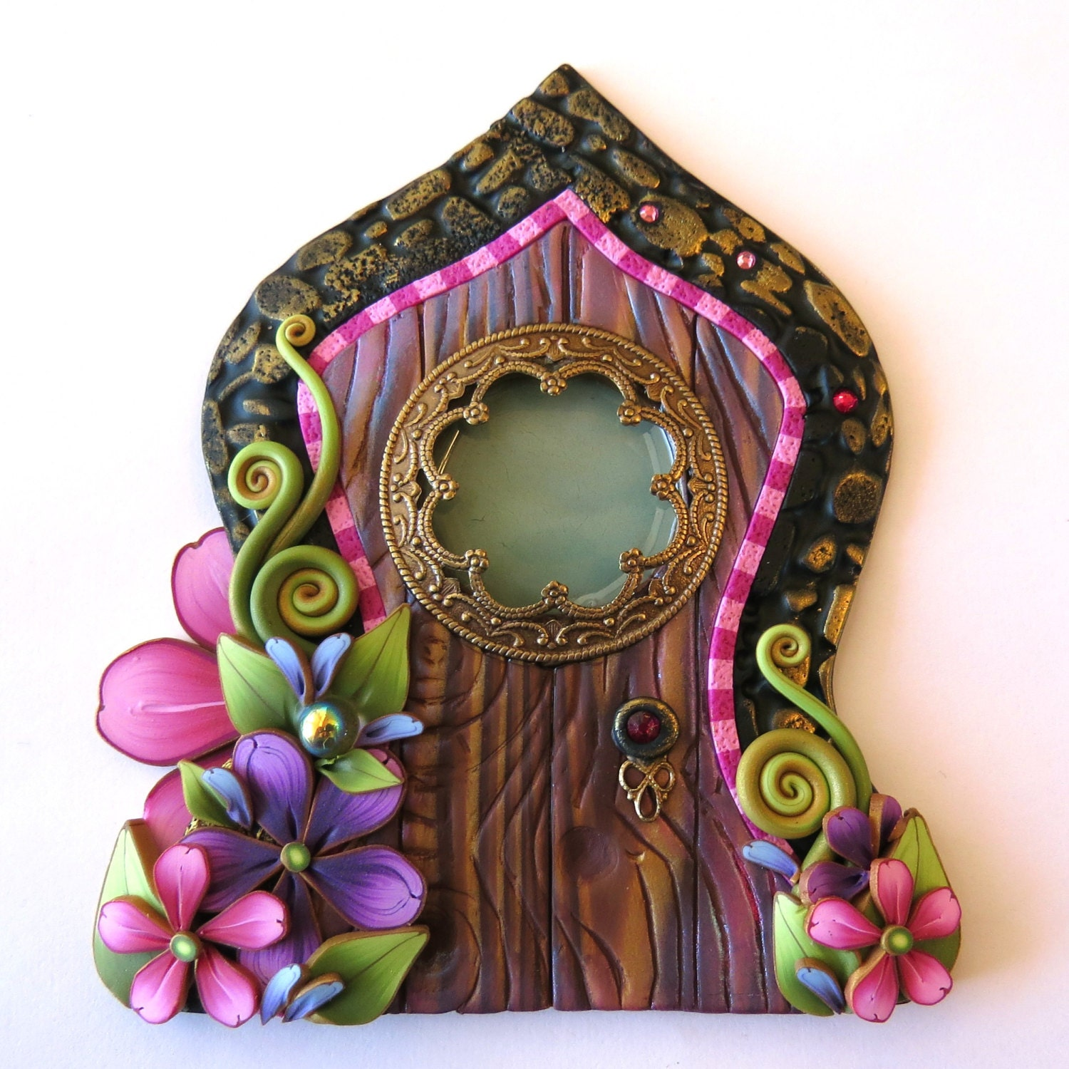 Fairy door pixie portal home decor fairy garden accessory for The little fairy door