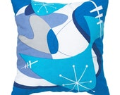 Atomic Age Pillow Cover 18 inch - Blue Bam Boom