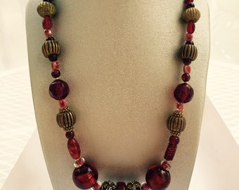 Bold Red Statement Necklace