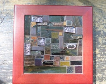 Arts and Crafts Style Patchwork Tile in Rookwood Brown