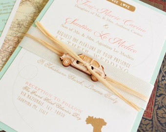 Modern Travel Wedding Invitation (Italy) - Design Fee