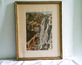 Vintage Framed Print of Grand Canyon National Park, Arizona