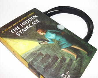 Book Purse Nancy Drew Hidden Staircase Handbag Upcycled Book Bag Trendy Vintage Book Purse