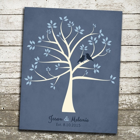 Personalized WEDDING Gift for Bride and Groom - FAMILY Tree Art - Gift ...