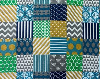 Japanese Fabric Kokka Echino Jacquard - Piece - C - 50cm
