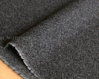 Japanese Fabric Wool Melton diamond - grey - 50cm