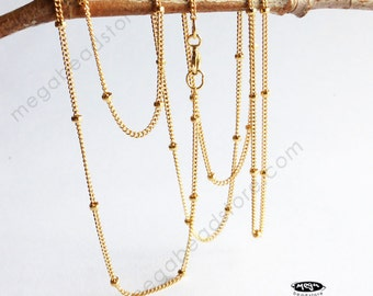 30 inch Satellite Chain (with 1.9mm bead) Finished Necklace 1/20 14K Gold Filled- FC25GF- 1 pc