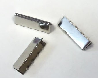 END LOT! Belt TIP - 1 Inch - Nickel - 100 Pieces