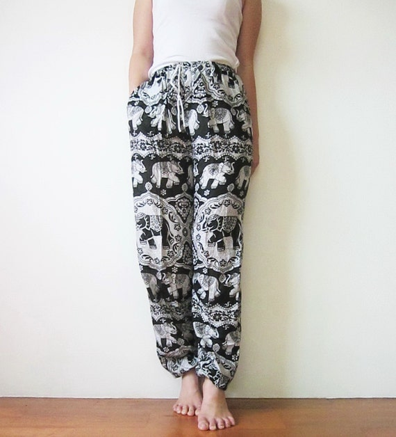 Items Similar To Elephant Pants Elastic Waist And Ankle