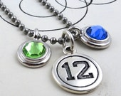 Seattle Seahawks 12th Woman Blue and Green Necklace - Ready to Ship