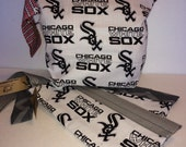 Sale! Chicago baseball Fan Snappy Top Double Shot Project Bag. Organize your knit, crochet, toiletries or electronics easily!
