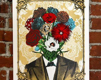 Mr. Bloom - Handprinted Art Print