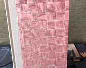 Journal - Large Lined Red Basket Weave