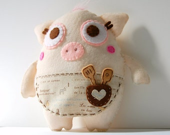 Mama Pigleton Plush / Eco Friendly Stuffed Toy