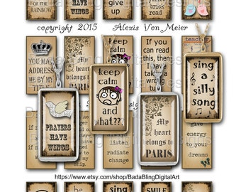 1 x 2,  Make Me Laugh,   INSTANT Digital Download at CheckouT, collage sheets for jewelry, word pendants, funny quotes