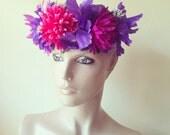 Festival Garden Rose Flower Crown Head Hair Garland Piece Dress Band