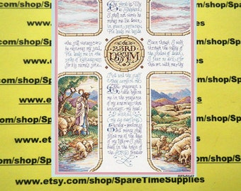 "Janlynn Corporation - 023-0147 23rd Psalm - counted cross stitch - approx. 10.5"" x 16.5"" - 1 kit"