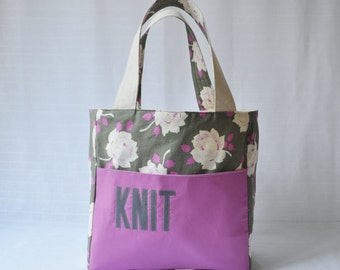 Stand Up Knitting Tote - Gift for Knitter