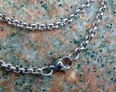 Stainless Steel Rolo Chain 3mm, Finished Necklace Chain, 18 inches, can be shortened