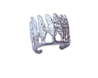 Feather Ear Cuff     earcuff gold silver earring jewelry