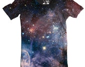 Mens Galaxy T Shirt, Carina Nebula Men's Tee, Cool Outer Space T-Shirt, Cosmos Graphic Tee, Stars, Planet, Galactic Science Crewneck, S-2XL