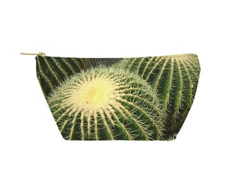 Cactus Pouch - Accessory Bag, Cosmetic Case, Makeup Bag, Toiletry Bag, Pencil Pouch - Printed in USA