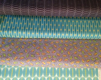 For You - From Zen Chic - For Moda - Fat Quarter Set - 4 Prints - 9.95 Dollars