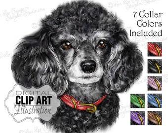 Poodle | Dog Clip Art | Color Illustration | Dog Clipart Digital Download Painting | Animal Art | Digital Scrapbooking | Scrapbook Supplies