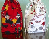 Reserved for Rose - Life's a Witch and Do Ewe Knit Grab 'n Go Pouches with pockets