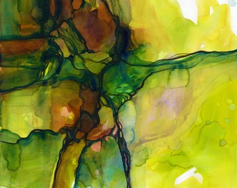 Calm Travels ... Canvas Art Print . from Original Abstract watercolor painting by Kathy Morton Stanion  EBSQ