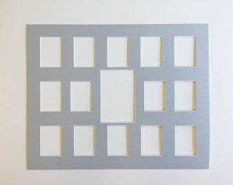 School Photo Mat - Fits 16x20 Frame - Multi Opening - Custom Color