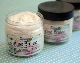 Organic Sugar Scrub Soap Creme Brulee 2 oz Mini Sample Size Creme Fraiche Trial