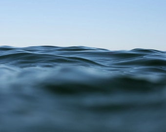 Large Format Abstract Seascape of a Blue Ocean Photograph - Within Waves 3
